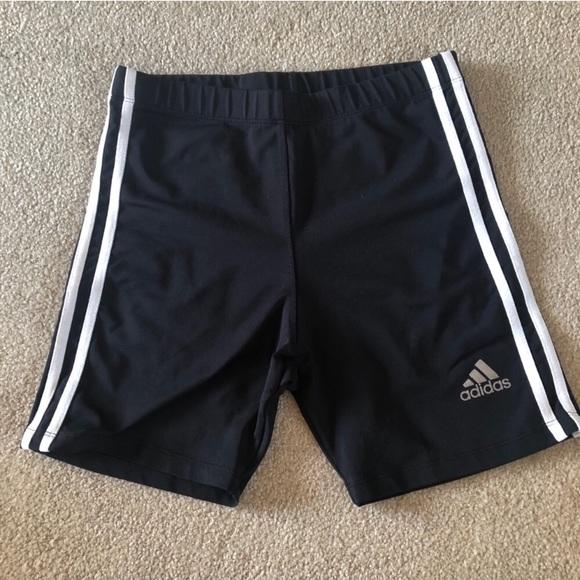 adidas Other - Adidas   Biker Spandex Shorts Black & White Stripe